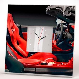 """Дизайнерские часы на стену """"Ferrari. Феррари"""""""