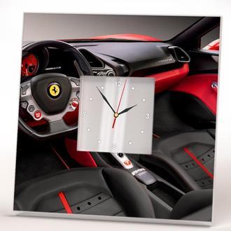 """Супер стильные часы для подарка """"Салон авто Феррари. Ferrari"""""""
