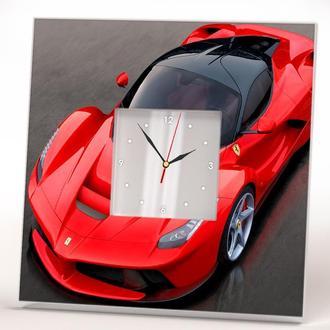 "Часы с фото спортивного автомобиля ""Ferrari. Феррари"""