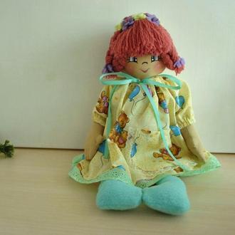 Велика м'яка лялька з тканини 40 см в подарунок дівчинці на хрестини