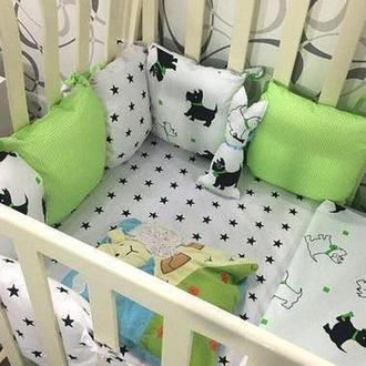 Комплект в кроватку «Little Dog» 6 бортиков с постельным