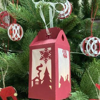 Новогодний фонарик - коробочка для подарка
