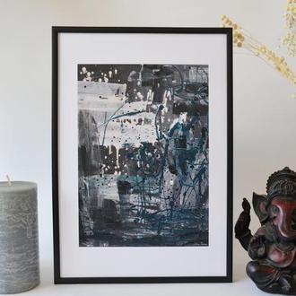 Постер в рамці. Авторська ілюстрація Портрет дівчини №3