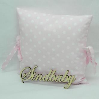 Бортики подушки в кроватку, Подушка бязь 30х30 -21