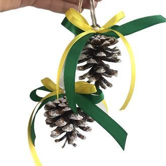 Шишки на ёлку, игрушки на ёлку, шишки, эко декор, новогодний декор, подарок на Новый год