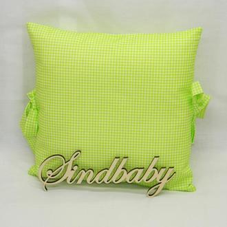 Бортики подушки в кроватку, Подушка бязь 30х30 -25