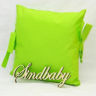 Бортики подушки в кроватку, Подушка бязь 30х30 -27