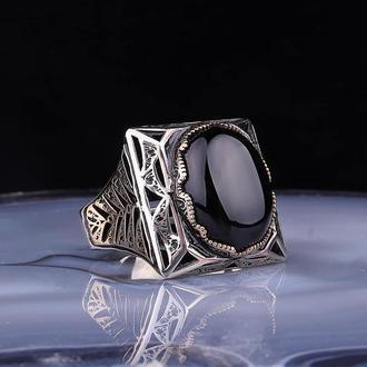 Турецкий перстень ювелирный для мужчин из серебра 925 пробы