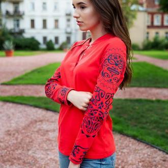 Джемпер красный Tattoo-Totem S