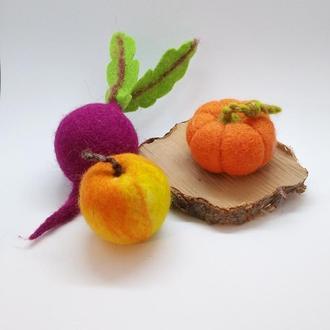 Овощи валяные В одном экземпляре - перед заказом уточнить наличие
