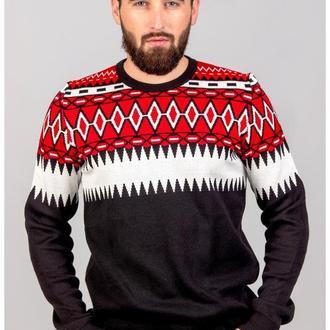 Мужской вязаный свитер с геометрическим узором