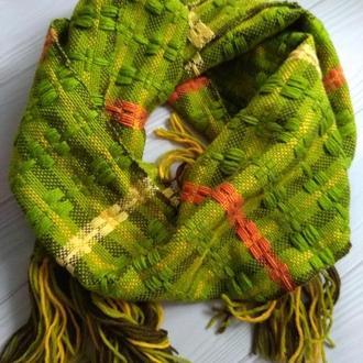 Тканый шарф Зеленый
