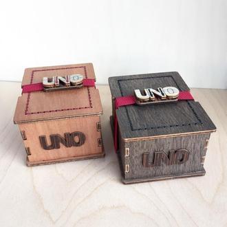 Коробка для игральных карт UNO. Подарочная коробка для игр