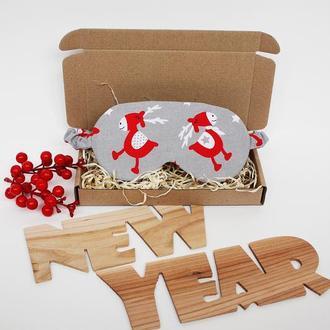 Новорічні подарунки Київ, новогодние сувениры, маска для сна - олень киев, маска для сну олені київ