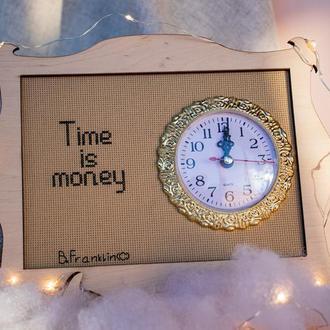 """Настольные часы """"Time is money"""""""