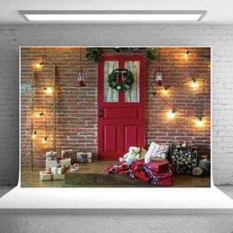 Студийный фотофон Красный кирпич Рождество фон для фотографии