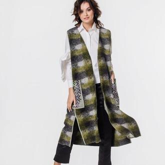 Женское пальто-жилет двустороннее