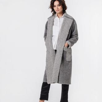 Пальто-кардиган с карманами