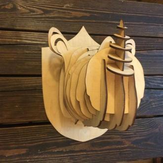 Голова носорога  декор стен, 3d скульптура, настенное украшение