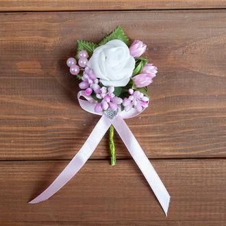 Бутоньєрка для нареченого, свідка та\або рожева гостей