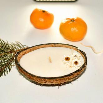 Массажная свеча из кокосового и соевого воска с драгоценными маслами
