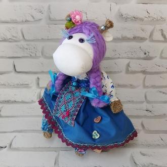 Лялька мотанка оберіг корова, символ 2021
