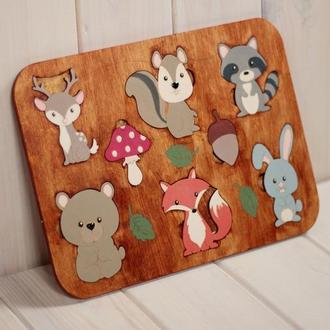 ЕКО-іграшка «Лісові друзі» дерев'яна іграшка пазл