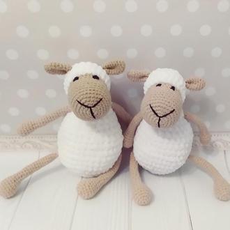 Плюшевая овечка Игрушка для новорожденного  Игрушка для фотосессии