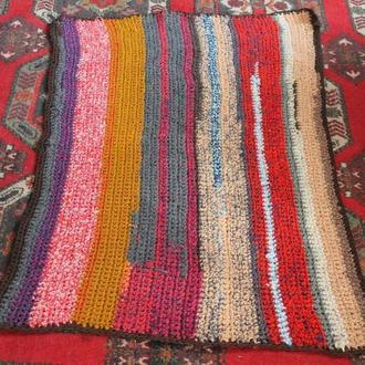 Коврик вязаный, коврик вязаный крючком, килим, дорожка вязаная