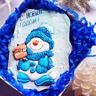 Пряничный снеговик