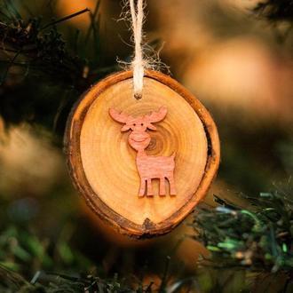 Деревянные Эко игрушки новогодние на елку AF-501