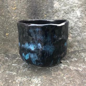 Чаван - чаша для японской чайной церемонии, дровяной обжиг, Раку