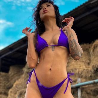 Фиолетовый купальник бикини VR brand