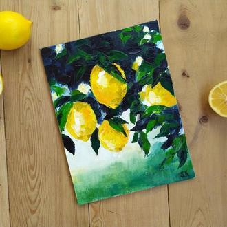 "Мини-картина ""Лимоны"""