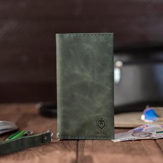 Компактный кожаный кошелек KING