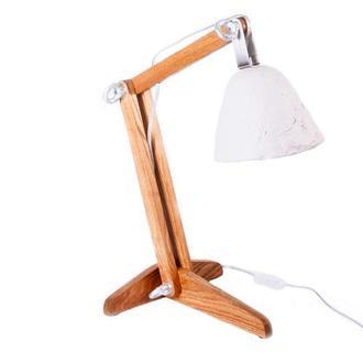 """Настольная лампа из дерева и папье-маше """"ПОЛИСК"""""""
