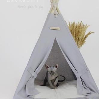 Домик для кошек и собак | Серый