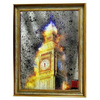 Картина за дзеркалом London in gold №528
