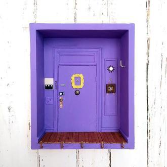 """Ключниця-поличка """"Двері Моніки з серіалу """"Друзі"""""""