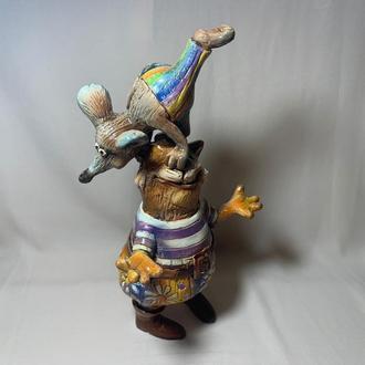 Скульптура Скарбничка кераміка 'Кіт з Пацюком'