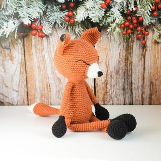 В'язані іграшки.В'язаний зайчик,лисичка та вовк. Довгоногі іграшки.Інтер'єрні іграшки.