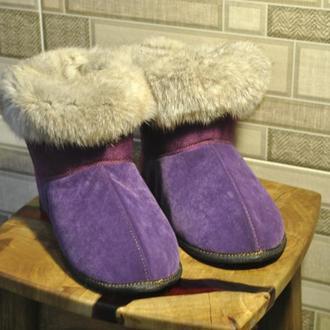 Домашняя обувь натуральный мех