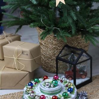 """Подарочный торт """"Новогодние огни"""""""