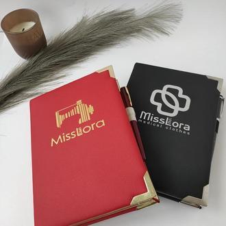 Ежедневник с вашим логотипом, картинкой, именем, надписью