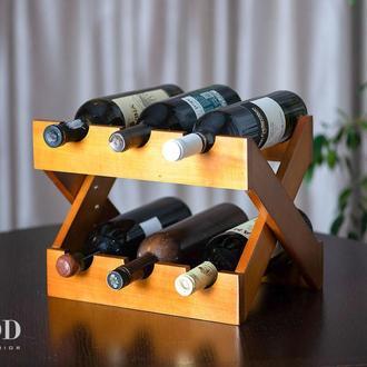 Подставка для вина из дерева