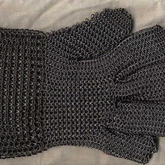 Кольчужная перчатка (защитная и рабочая, кольца) на правую и левую руку универсальная