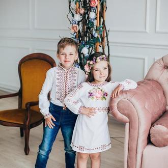 вишиванка для мальчика и девочки