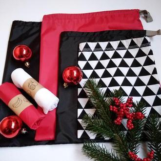 Новогодний подарочный набор эко мешочков Киев, многоразовые мешочки Киев, корпоративные подарки