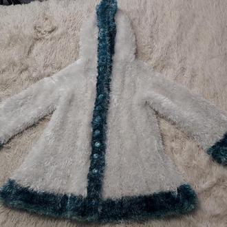 Шуба вязанная