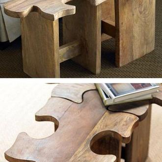 Комплект стульчиков Пазл ручной работы